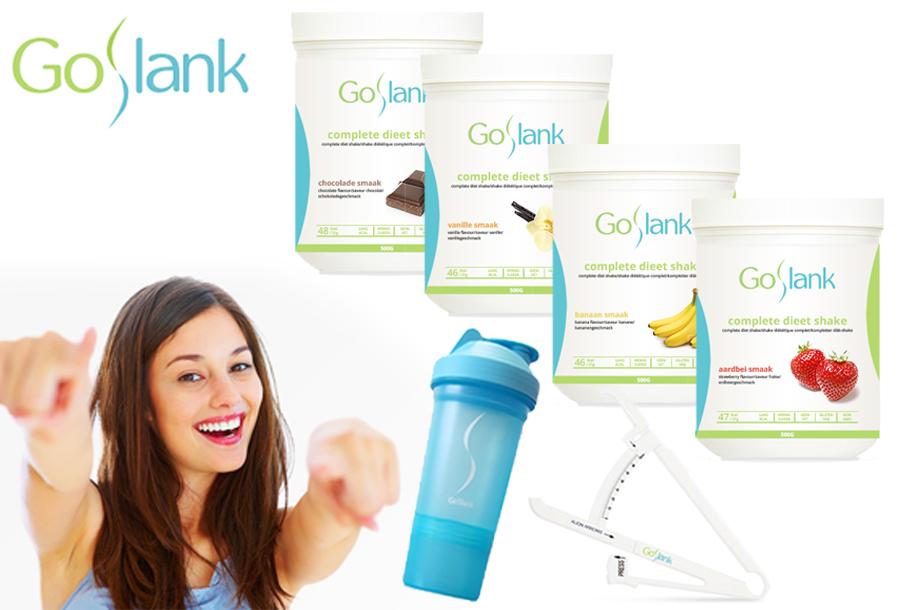 Snel en gezond afvallen met GoSlank afslankshakes!