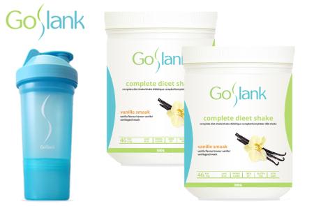 GoSlank afslankshakes voor 1 maand | Snel en op een gezonde manier afvallen! + GRATIS extra's Vanille