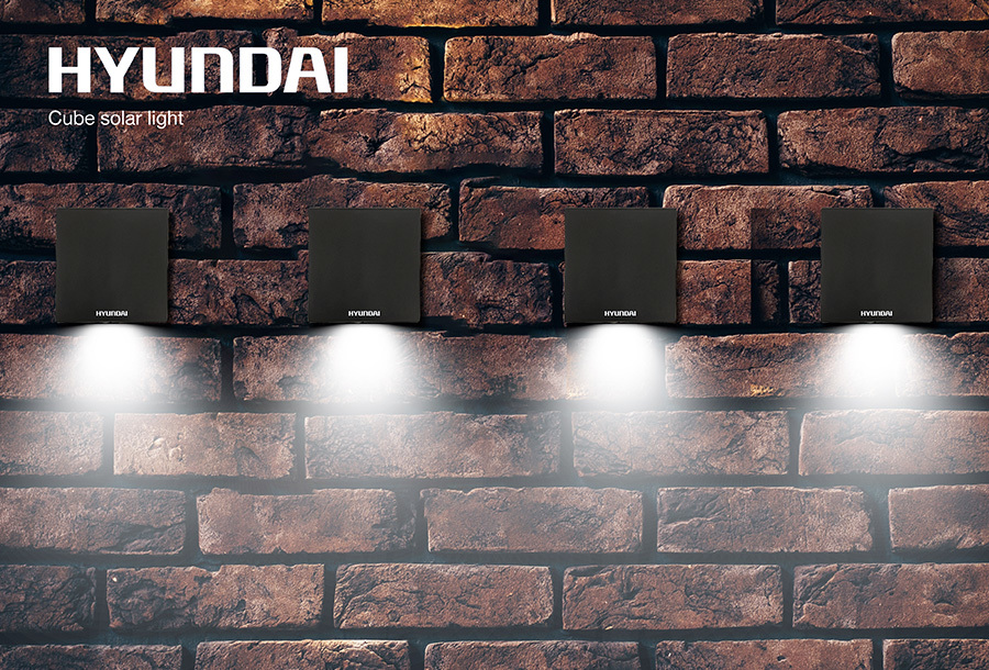 Hyundai led solar cube tuinverlichting