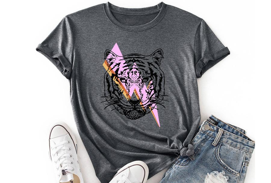 Tiger shirt - Grijs - Maat XL