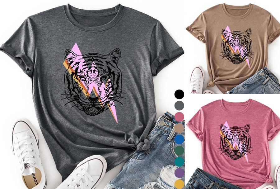 Dames T-shirt met tijger