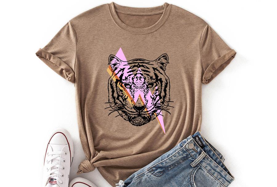 Tiger shirt - Khaki - Maat L