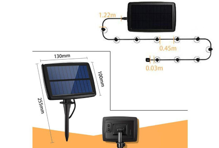 Solar lampjes slinger | Waterproof sfeerverlichting voor buiten 10 leds