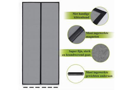 Magnetisch vliegengordijn van FlinQ | Handige hordeur met magneten