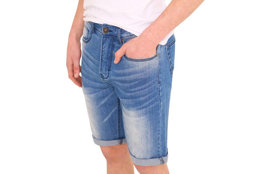 Stretchy korte broek voor heren Maat 3XL - Medium washed