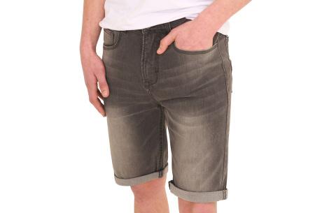 Stretchy korte broek voor heren   Super comfortabele zomerbroek voor mannen Black denim