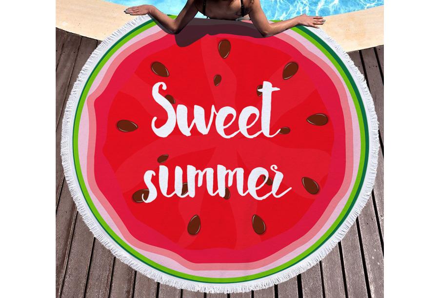 Rond strandlaken Sweet summer
