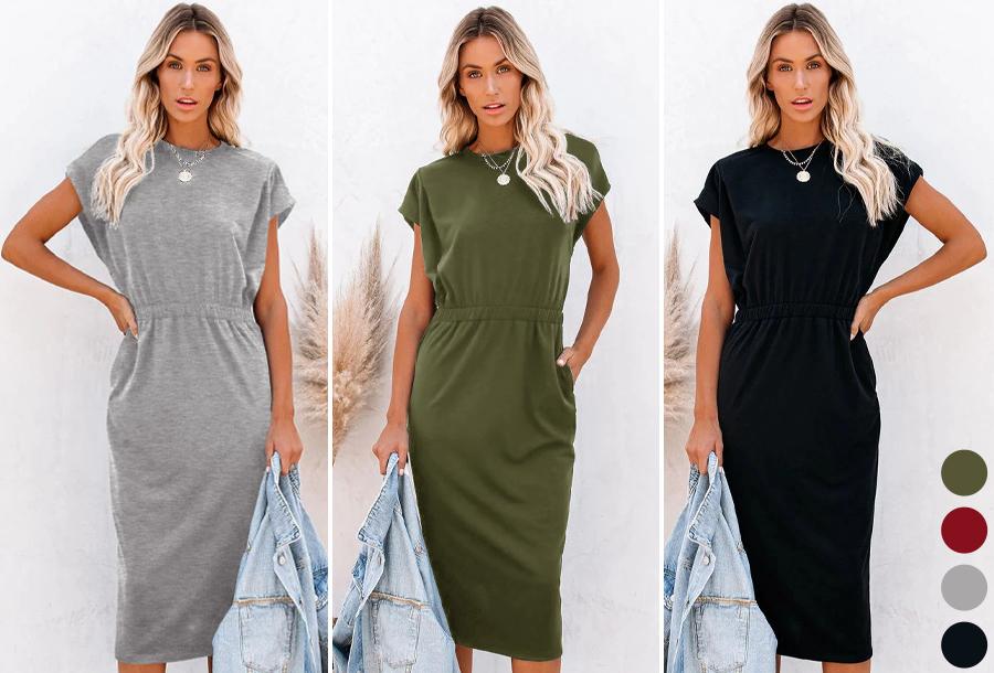 Pocket midi jurk met 62% korting