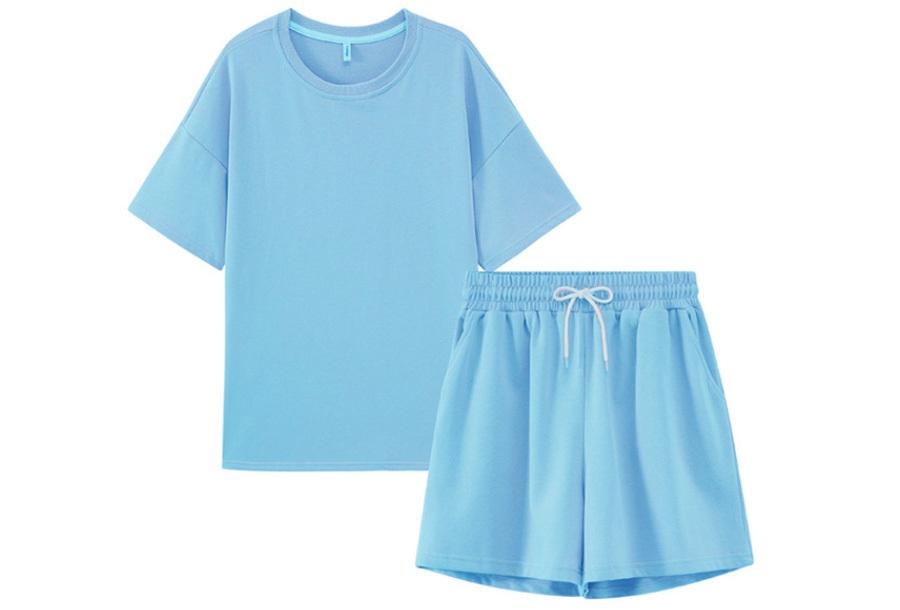 Summertime joggingpakje - Maat L - Lichtblauw