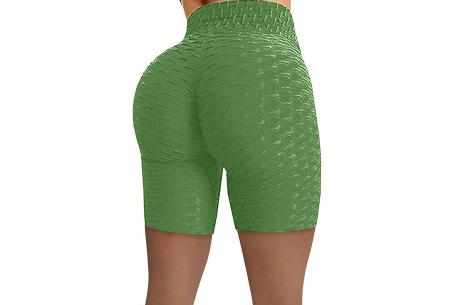 Korte sportlegging met push-up effect   Ideaal als sportbroek of alledaags - bekend van TikTok! Groen