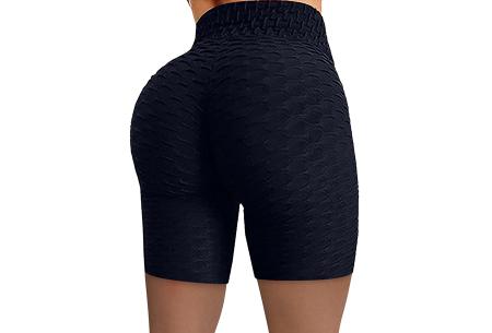 Korte sportlegging met push-up effect   Ideaal als sportbroek of alledaags - bekend van TikTok! Zwart