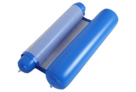 Waterhangmat | Luchtbed om heerlijk op te relaxen in het zwembad of in de zee! Donkerblauw
