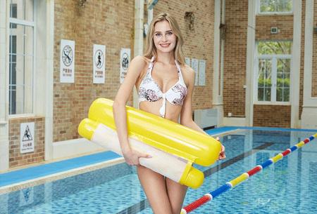 Waterhangmat | Luchtbed om heerlijk op te relaxen in het zwembad of in de zee! Geel