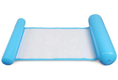 Waterhangmat | Luchtbed om heerlijk op te relaxen in het zwembad of in de zee! Lichtblauw