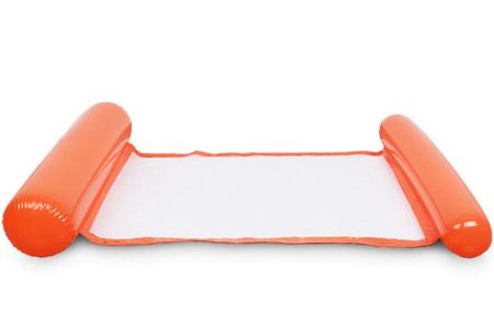 Waterhangmat | Luchtbed om heerlijk op te relaxen in het zwembad of in de zee! Oranje