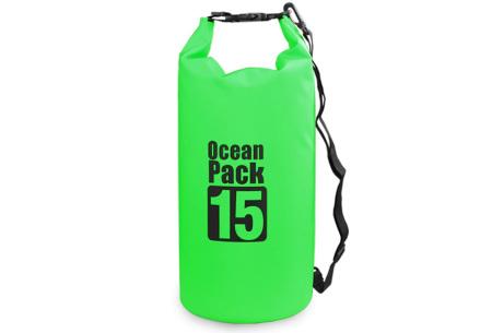 Waterdichte tas   Dry bag in verschillende maten en kleuren  Groen