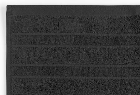 Seashell Luxor Deluxe handdoeken | 100% katoenen handdoeken en badhanddoeken Zwart
