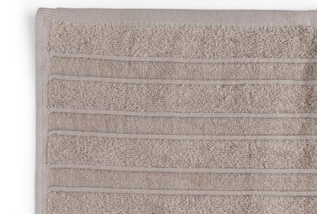 Seashell Luxor Deluxe handdoeken | 100% katoenen handdoeken en badhanddoeken Taupe