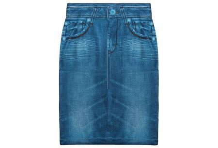 Slim jeans rok   Super stretchy rokje met spijkerlook Blauw