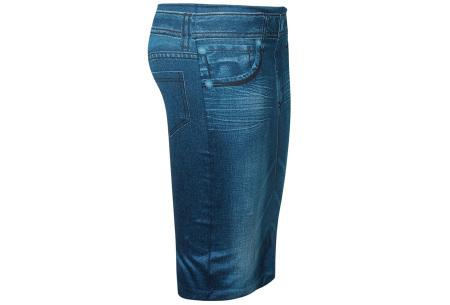 Slim jeans rok   Super stretchy rokje met spijkerlook