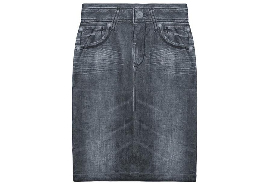 Slim jeans rok - Maat XL/2XL - Grijs