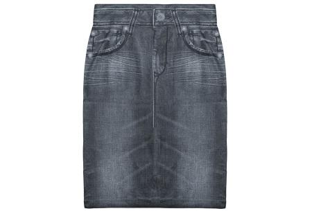 Slim jeans rok   Super stretchy rokje met spijkerlook Grijs