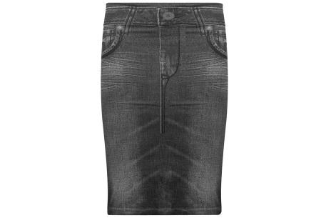 Slim jeans rok   Super stretchy rokje met spijkerlook Zwart