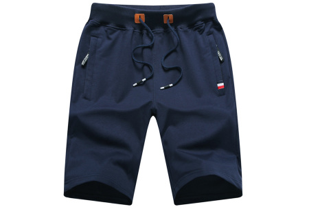 Heren joggingshort   Comfy korte broek voor heren  Donkerblauw