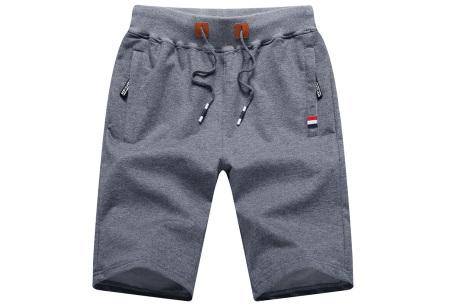 Heren joggingshort   Comfy korte broek voor heren  Donkergrijs