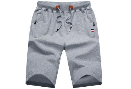 Heren joggingshort   Comfy korte broek voor heren  Lichtgrijs