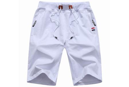 Heren joggingshort   Comfy korte broek voor heren  Wit