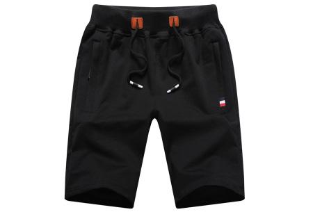 Heren joggingshort   Comfy korte broek voor heren  Zwart