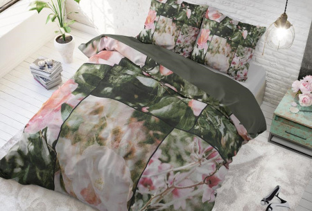 Dekbedovertrek van Dreamhouse   Katoenen dekbedovertrek met print Flower fashion