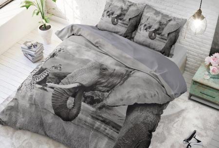 Dekbedovertrek van Dreamhouse   Katoenen dekbedovertrek met print Animal family