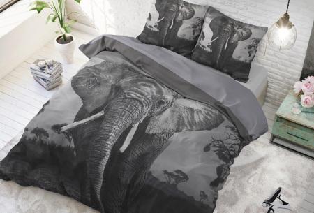 Dekbedovertrek van Dreamhouse   Katoenen dekbedovertrek met print Elephant mansion