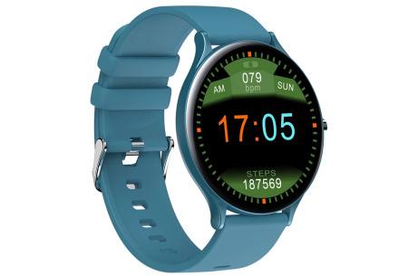 QW13 unisex smartwatch | Luxe horloge voor heren en dames  Blauw