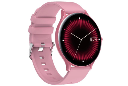 QW13 unisex smartwatch | Luxe horloge voor heren en dames  Roze