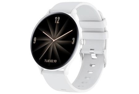 QW13 unisex smartwatch | Luxe horloge voor heren en dames  Wit