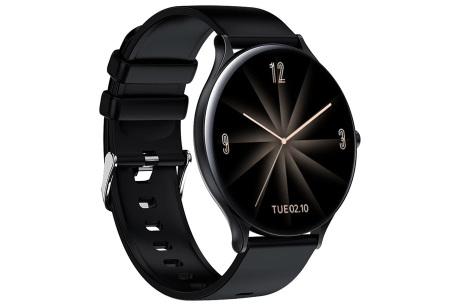 QW13 unisex smartwatch | Luxe horloge voor heren en dames  Zwart