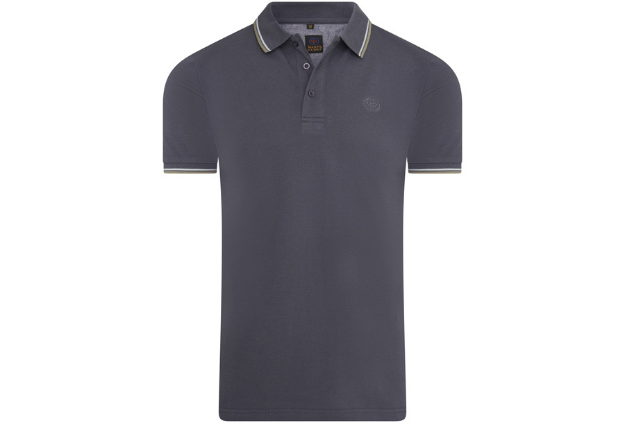 Mario Russo polo shirts Maat M -Antraciet