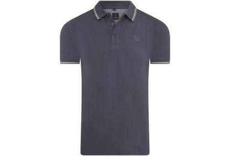 Mario Russo polo shirts   Herenpolo's in 7 kleuren Antraciet