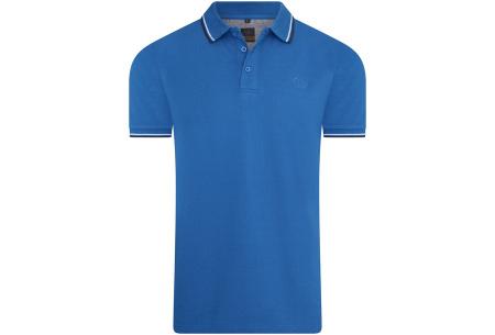 Mario Russo polo shirts   Herenpolo's in 7 kleuren Blauw