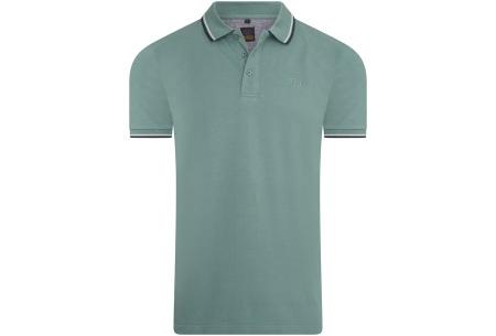 Mario Russo polo shirts   Herenpolo's in 7 kleuren Groen