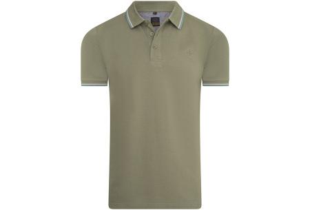 Mario Russo polo shirts   Herenpolo's in 7 kleuren Legergroen