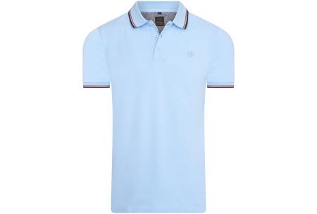 Mario Russo polo shirts   Herenpolo's in 7 kleuren Lichtblauw