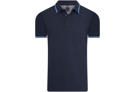 Mario Russo polo shirts   Herenpolo's in 7 kleuren Navy