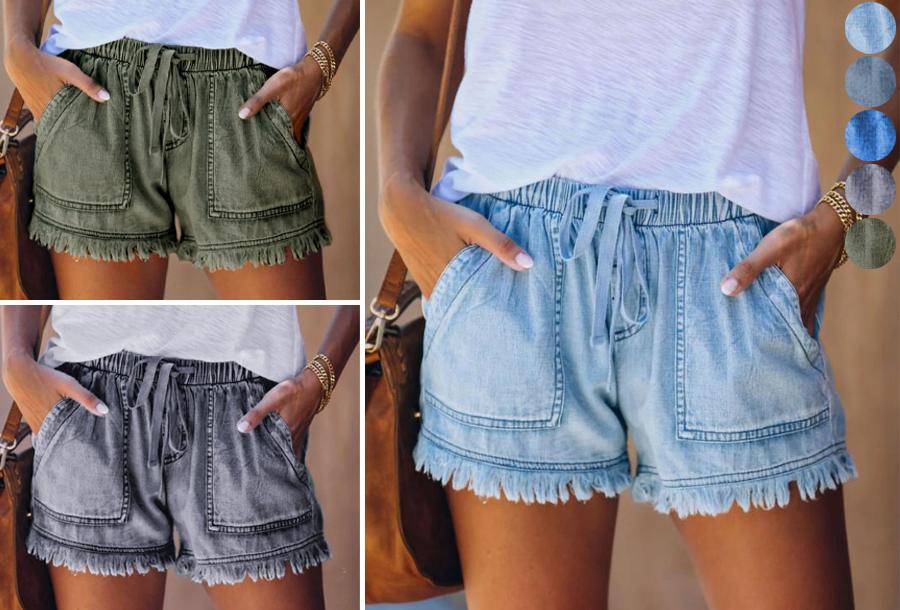 Jeans short voor dames in de sale!