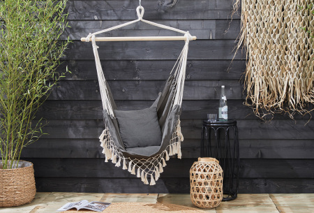 Ibiza hangstoel voor buiten en binnen | Sfeervolle hangmatstoel in bohemian stijl