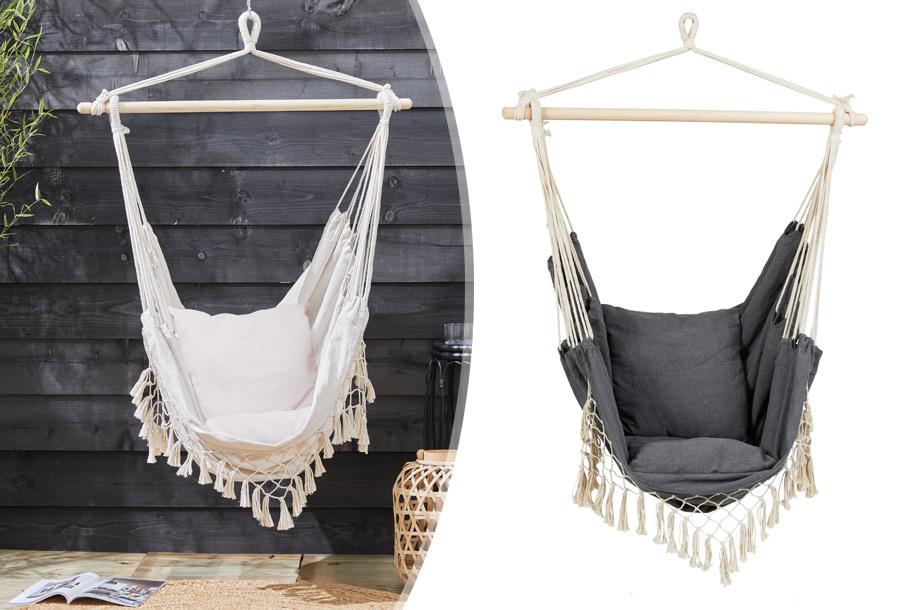 Ibiza hangstoel voor buiten en binnen met korting