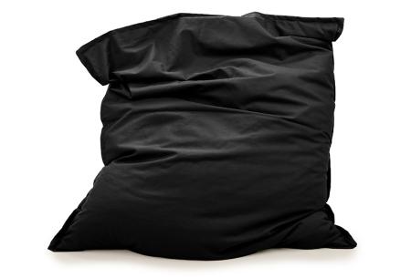 Your Basics zitzakken | Stoffen loungekussens - in 13 kleuren  Zwart